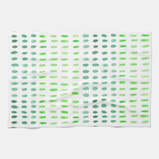 Estrallado en toalla de té verde