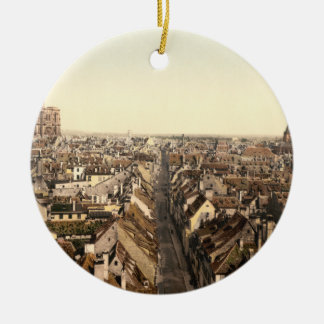 Estrasburgo, Alsacia, Francia Adorno Redondo De Cerámica