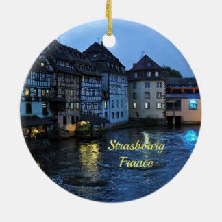 Estrasburgo hermosa, Francia Adorno Redondo De Cerámica
