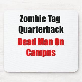 Estratega de la etiqueta del zombi alfombrilla de ratón