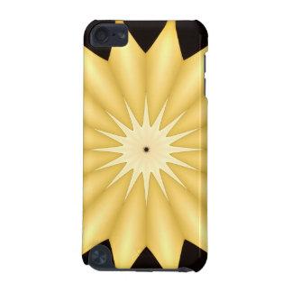 Estrella amarilla brillante del diseño del funda para iPod touch 5