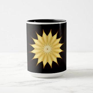 Estrella amarilla brillante del diseño del taza