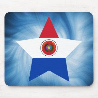 Estrella amistosa de la bandera de Paraguay del Alfombrilla De Ratón