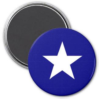 Estrella blanca de la bandera azul de Bonnie Iman De Frigorífico