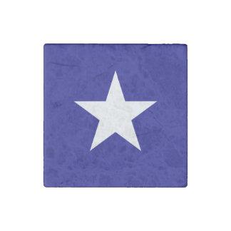 Estrella blanca de la bandera azul de Bonnie Imán De Piedra