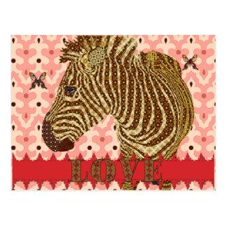 Estrella brillante Zenya y mariposas Lo rosado de Postal
