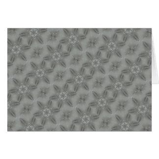 Estrella caleidoscópica decorativa de los gris tarjeta de felicitación