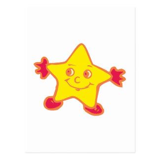 Estrella cara star face tarjeta postal