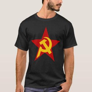 Estrella comunista de DHKC en negro Camiseta