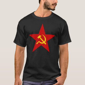 Estrella comunista del martillo y de la hoz camiseta