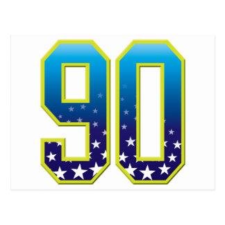 Estrella de 90 edades postal