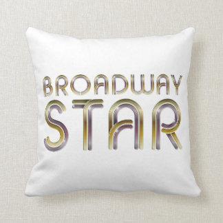 Estrella de Broadway de la CAMISETA Cojín Decorativo