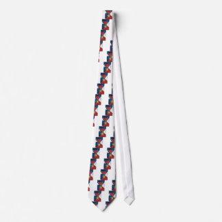 Estrella de bronce en bandera americana corbata