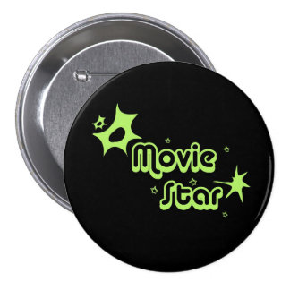Estrella de cine chapa redonda 7 cm