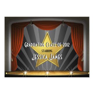 Estrella de cine - invitación de la graduación