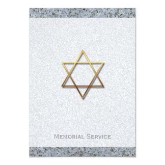 Estrella de David/de la piedra - invitación
