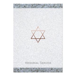 Estrella de David/de la piedra - invitación fúnebr