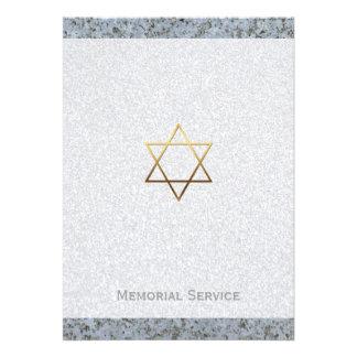 Estrella de David de la piedra - invitación fúnebr