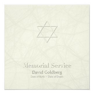 Estrella de David + efecto grabado en relieve - Invitación 13,3 Cm X 13,3cm