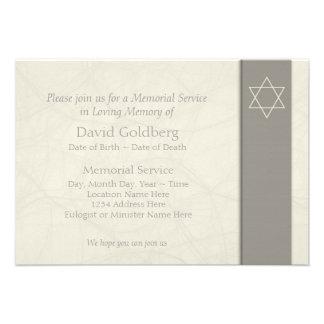 Estrella de David - invitación fúnebre -
