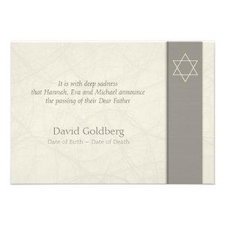 Estrella de David - invitación fúnebre