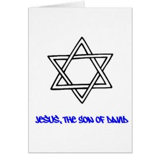 Estrella de David - Jesús, el hijo de David Tarjeta De Felicitación