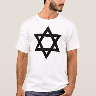 Estrella de David negra Camiseta