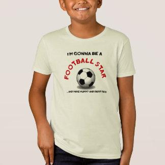 Estrella de fútbol camiseta