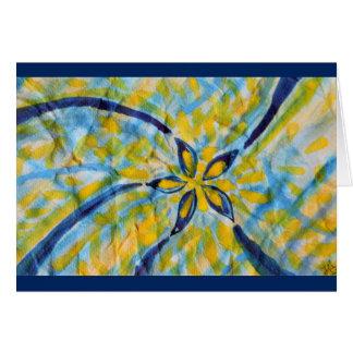 Estrella de giro/flor de la acuarela abstracta tarjeta de felicitación