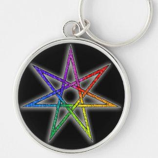 Estrella de hadas del orgullo gay llavero personalizado
