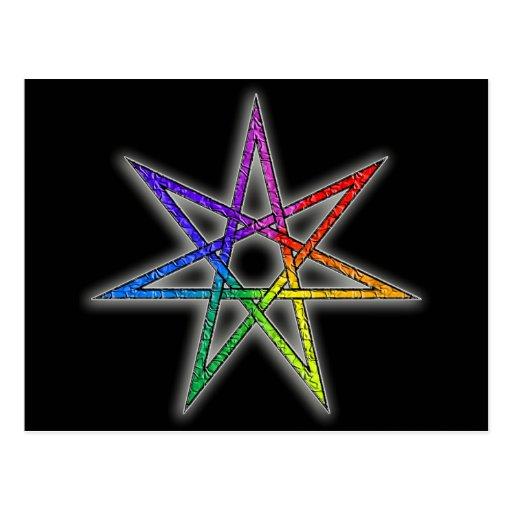Estrella de hadas del orgullo gay postal