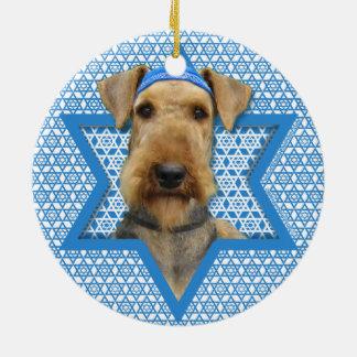 Estrella de Jánuca de David - Airedale Terrier Adorno De Reyes