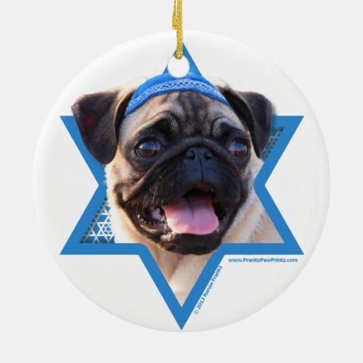 Estrella de Jánuca de David - barro amasado Ornamentos De Navidad