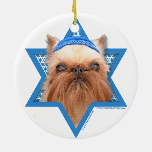 Estrella de Jánuca de David - Bruselas Griffon Ornamento De Navidad