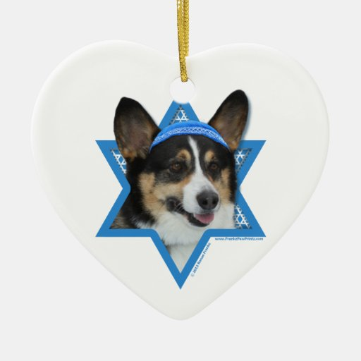 Estrella de Jánuca de David - Corgi Adorno De Reyes