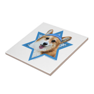 Estrella de Jánuca de David - Corgi - Owen Azulejos Cerámicos