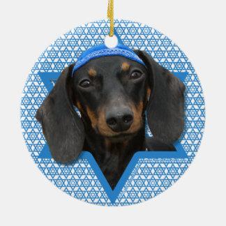 Estrella de Jánuca de David - Dachshund - Winston Ornaments Para Arbol De Navidad