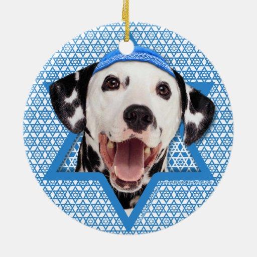 Estrella de Jánuca de David - Dalmatian Ornamentos Para Reyes Magos