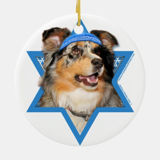 Estrella de Jánuca de David - pastor australiano - Adorno Para Reyes