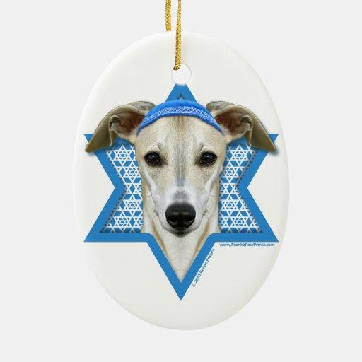 Estrella de Jánuca de David - Whippet Ornamentos De Reyes