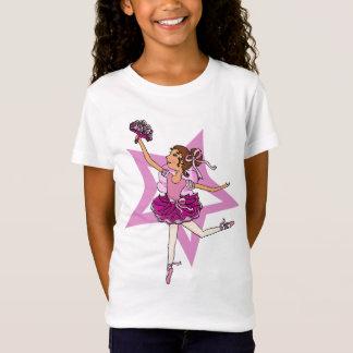 Estrella de la bailarina en rosa con el top del