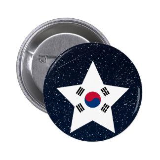 Estrella de la bandera de la Corea del Sur en Chapa Redonda 5 Cm
