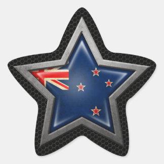 Estrella de la bandera de Nueva Zelanda con el Pegatinas Forma De Estrellaes