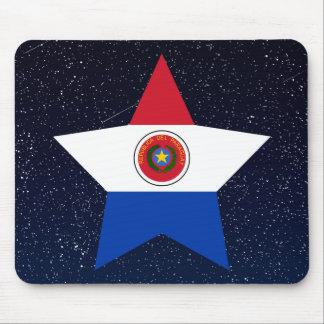 Estrella de la bandera de Paraguay en espacio Alfombrilla De Ratón