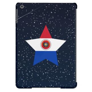 Estrella de la bandera de Paraguay en espacio Funda Para iPad Air