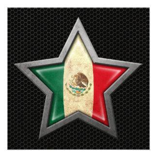 Estrella de la bandera mexicana con el efecto de a anuncio
