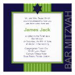 Estrella de la barra cinta verde y azul de Mitzvah