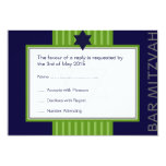 Estrella de la barra cinta verde y azul RSVP de Anuncio Personalizado
