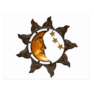estrella de la decoración de la pared postal