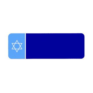 Estrella de la etiqueta de David Etiqueta De Remite